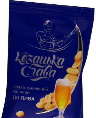 Арахіс до пива солоний смажений із смаком сиру, Козацька слава, 30г