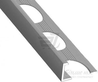 Профіль алюмінієвий АП-12 для плитки TIS з отворами 2700 мм полірований