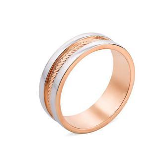 Обручальное кольцо с алмазной гранью (10169-1/14/1)