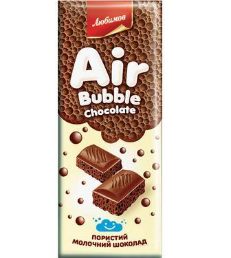 Шоколад молочний Любимов пористий, 65 г