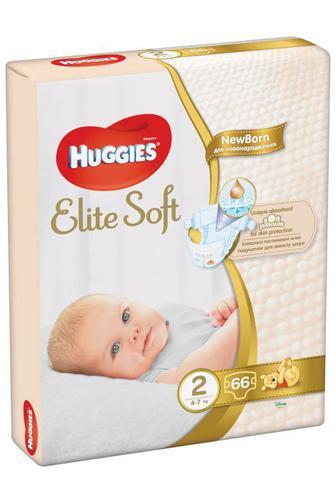 Подгузники Huggies Elite Soft р2 4-6 кг 66 шт
