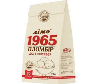 Морозиво 1965 пломбір або шоколадне Лімо 600/ 700 г