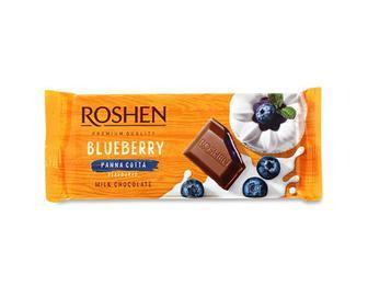 Шоколад молочний Roshen смак «Чорнична панакота» 90г