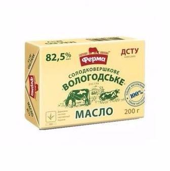 Масло Вологодське 82,5%  Ферма, 200 г