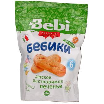 Печенье Bebi Premium 'Бебики' без глютена с 6 мес. 180 гр.