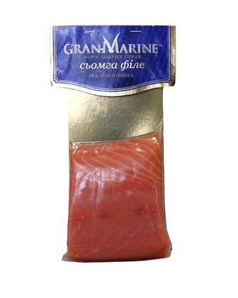 Риба ГранМарин Сьомга, філе слабосолена 100г