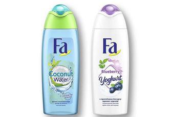 Гель для дyшy/ Крем-гель для душу Кокосова Вода з кокосом/ Yoghurt Аромат Чорниці Fa 250 мл