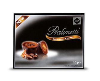 Цукерки з праліне зі смаком кави й карамелі, Eichetti 125 г