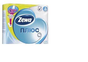 Папір туалетний 3шари 4рулона, Zewa