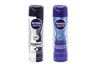 Дезодорант-антиперспирант Men Невидимый для черного и белого / Men Экстремальная свежесть, аэрозоль   Nivea  150 мл