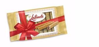 Трубочки вафельні з шоколадною начинкою з арахісом, Lafinele, 235 г
