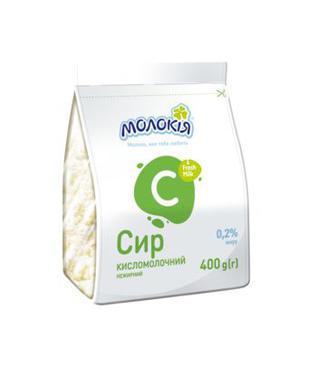 Сир Кисломолочний Стабіло 0,2% Молокія 400г