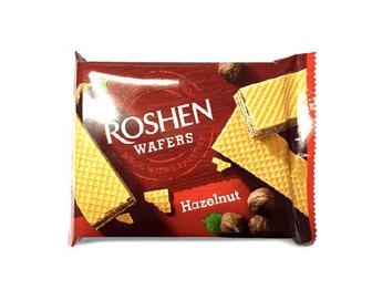 Вафлі Roshen Wafers горіхи, 72 г
