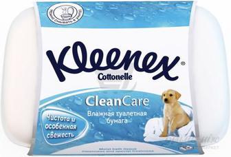 Вологий туалетний папір Kleenex Cottonelle CleanCare