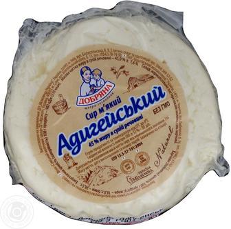 Сыр Адыгейский 45% Добряна 100 г