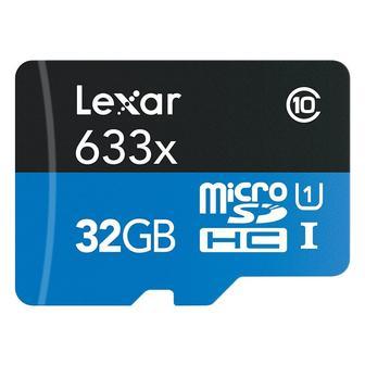 Lexar MicroSDHC 32GB Class 10, 633x, LSDMI32GBB1NL633R, OEM упаковка
