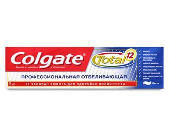 Паста зубна Colgate Total 12 «Професійне відбілювання» 75мл