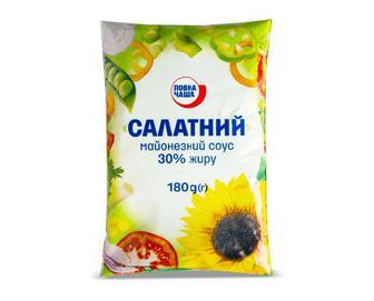 Майонезний соус Салатний, 30% жиру, Повна Чаша, 180 г