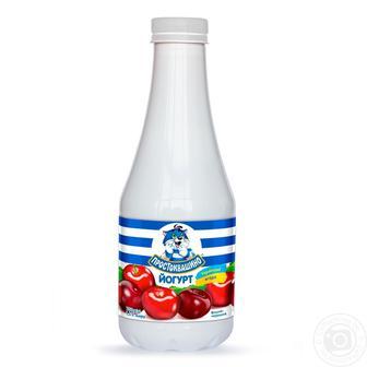 Йогурт питний 1,5% жиру Чорна смородина-Чорниця, Вишня-Черешня, Полуниця-Малина, Простоквашино, 750 г