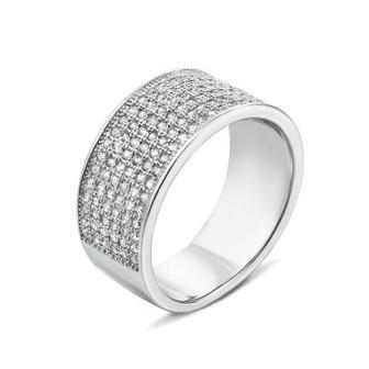 Серебряное кольцо с фианитами. Артикул PRS1070-R