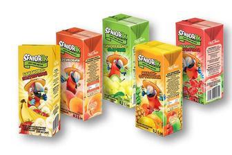 Нектар/Сік Seniorik виноградно-яблучний/ мульти-фруктовий/ бананово-полуничний з м'якоттю/ яблучно-полуничний/персиковий Своя Лінія 200 мл