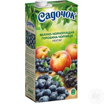 Напиток с соком ябл. с экст мяты, черн. рябина Садочок 0,95 л
