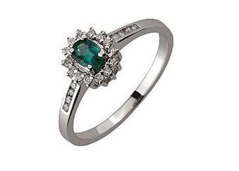 Золотое кольцо с бриллиантами и фианитом