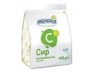 Творог Молокія 0,2% 400г