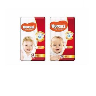 Підгузники дитячі гігієнічні Ultra Comfort (3) 4-9 кг, 50 шт./ Ultra Comfort (4) 7-14 кг, 42 шт.  Huggies