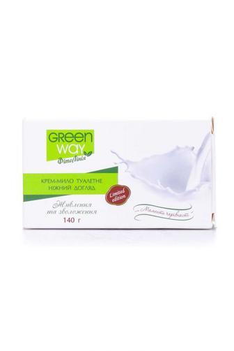 Крем-мыло твердое Green Way Нежное прикосновение, 100г