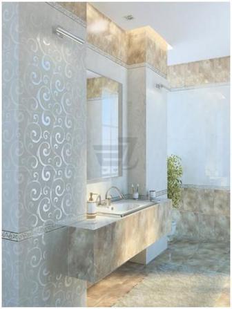 Плитка Golden Tile Онікс бежевий декор И41301 25x40