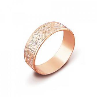 Обручальное кольцо с алмазной гранью. Артикул 1070/11