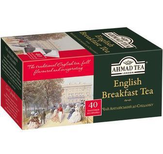 Чай Ahmad Tea чорний. б/я, Ahmad Tea, 40*2г