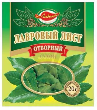 Лавровий лист сухий цілий Любисток 20г