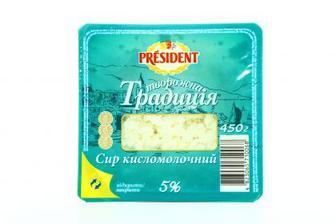 Сир к/м 5% Творожна традиція Рresident 450г