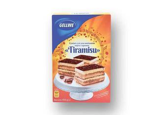 Суміші сухі для випікання торта з кремом  Tiramisu Gellwe