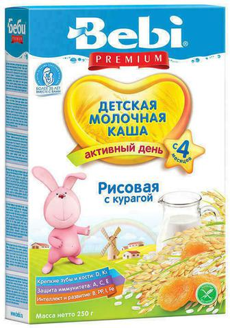 Каша Kolinska Bebi молочная курага с 4 месяцев 250 г