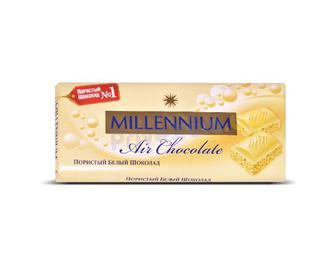 Шоколад Millennium Premium пористий білий, 90г