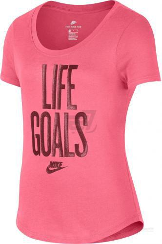 Футболка Nike G Nsw Tee Scoop Life Goals AH7394-823 M рожевий