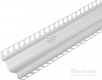 Профіль Торцевий Алюміневий з отворами 25x25x25 мм світлий