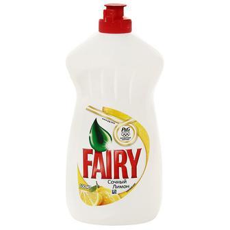 Скидка 21% ▷ Средство для мытья посуды FAIRY Сочный лимон, 500мл