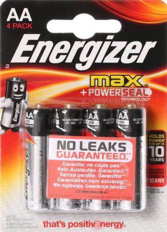 Батарейка Energizer Max E91 AA 4 шт. (E300112500)