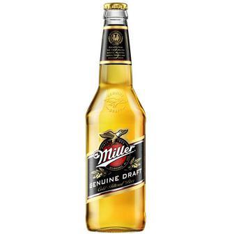 Пиво Miller Genuine Draft светлое фильтрованное 4.4% 0.5 л стекло