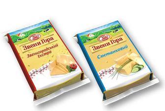 Сир твердий Звенигородський, Сметанковий 50% Звени Гора 200 г