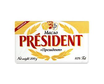 Масло кисловершкове, President 82%, 200г