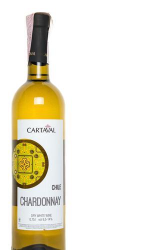 Вино Cartaval Chardonnay біле сухе, 0,75 л