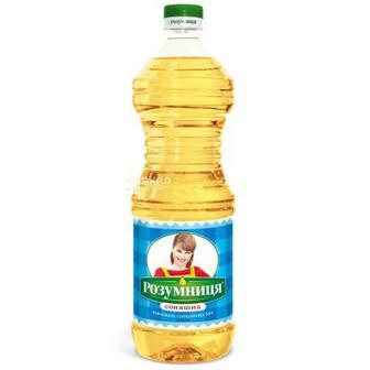 Соняшникова олія, рафінована Розумниця, 0,87 л