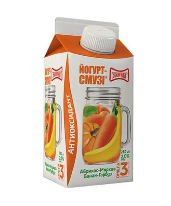 Йогурт Злагода Антиоксидант, смузі 2% 280г