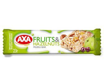 Батончик АХА зерновий з фруктами та горіхами, 23г