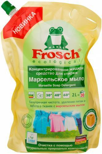 Рідкий засіб для машинного прання FROSCH Марсельське мило 2 л